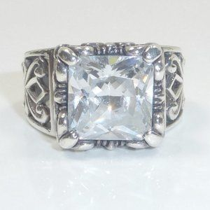Silpada CZ Sterling Silver Uptown Ring Size 6